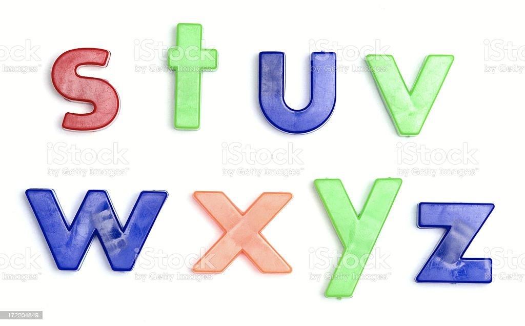 Alphabet Series royalty-free stock photo
