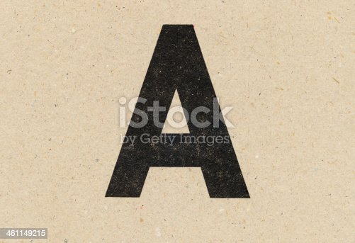 istock alphabet sign on paperboard 461149215