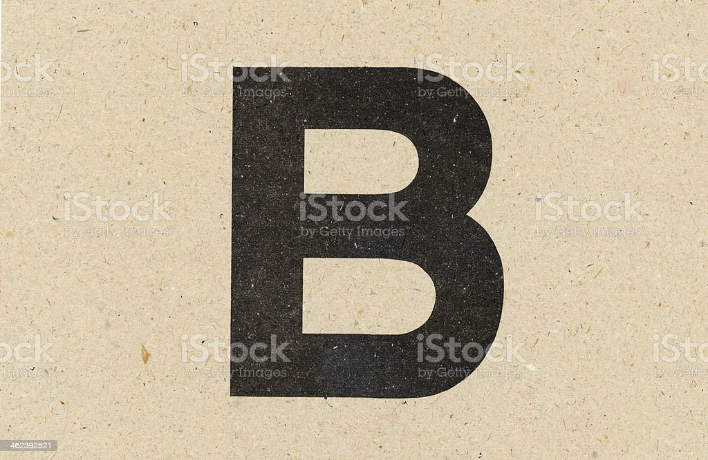 alphabet sign on paperboard stock photo