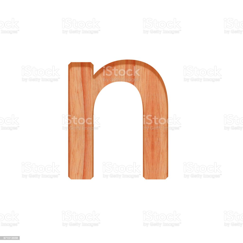 Alphabet Small Wooden Vintage Lowercase Letter Pattern Beautiful 3d