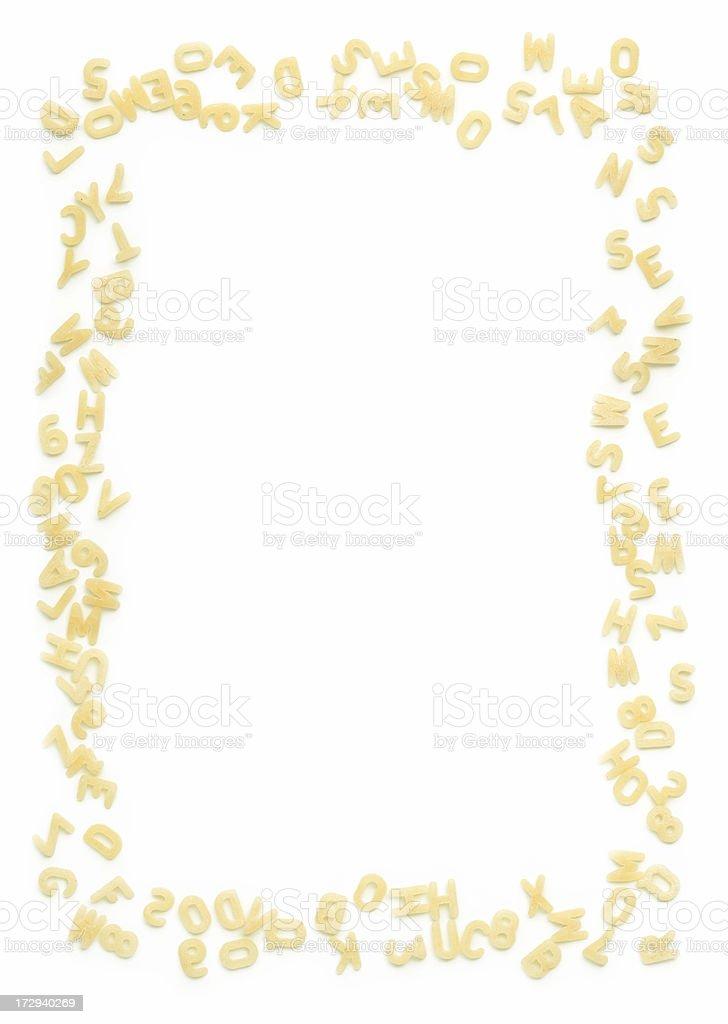 Buchstabennudelsuppen Frame – Foto