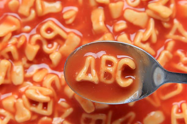 アルファベットスープ「ABC ストックフォト