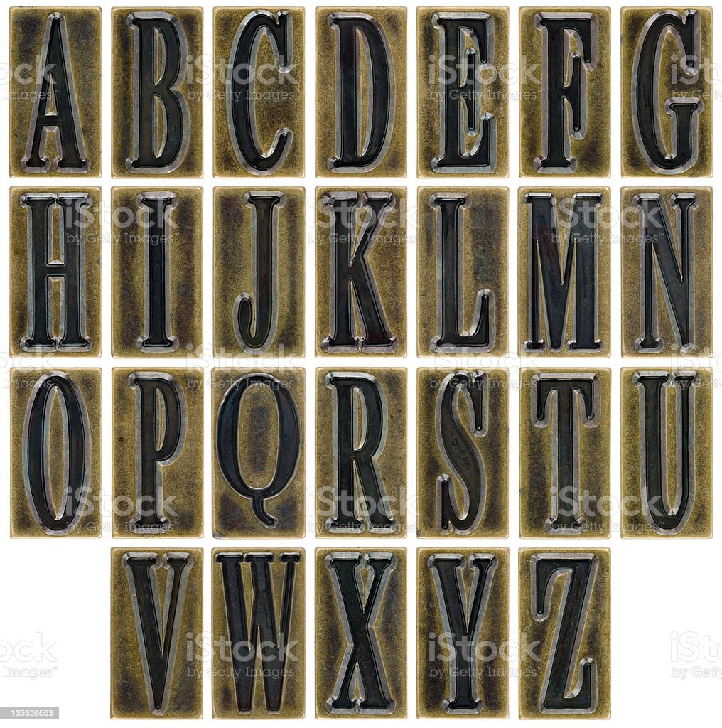 Alphabet Tiles royalty-free stock photo
