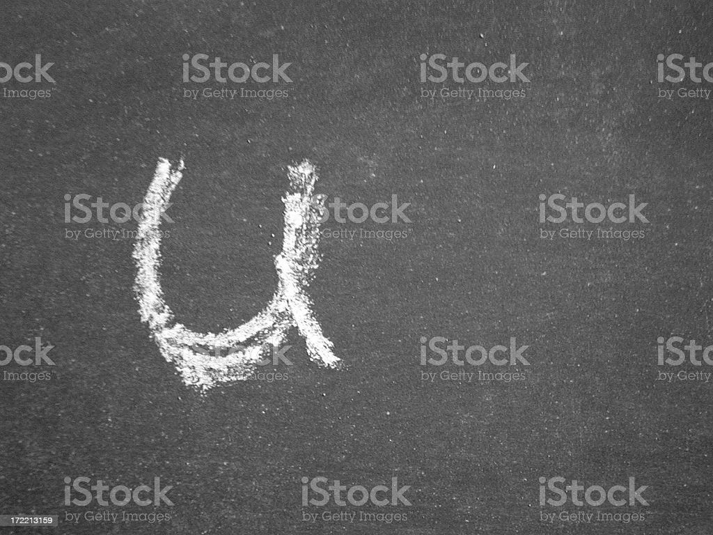 Alphabet - u - Chalk royalty-free stock photo