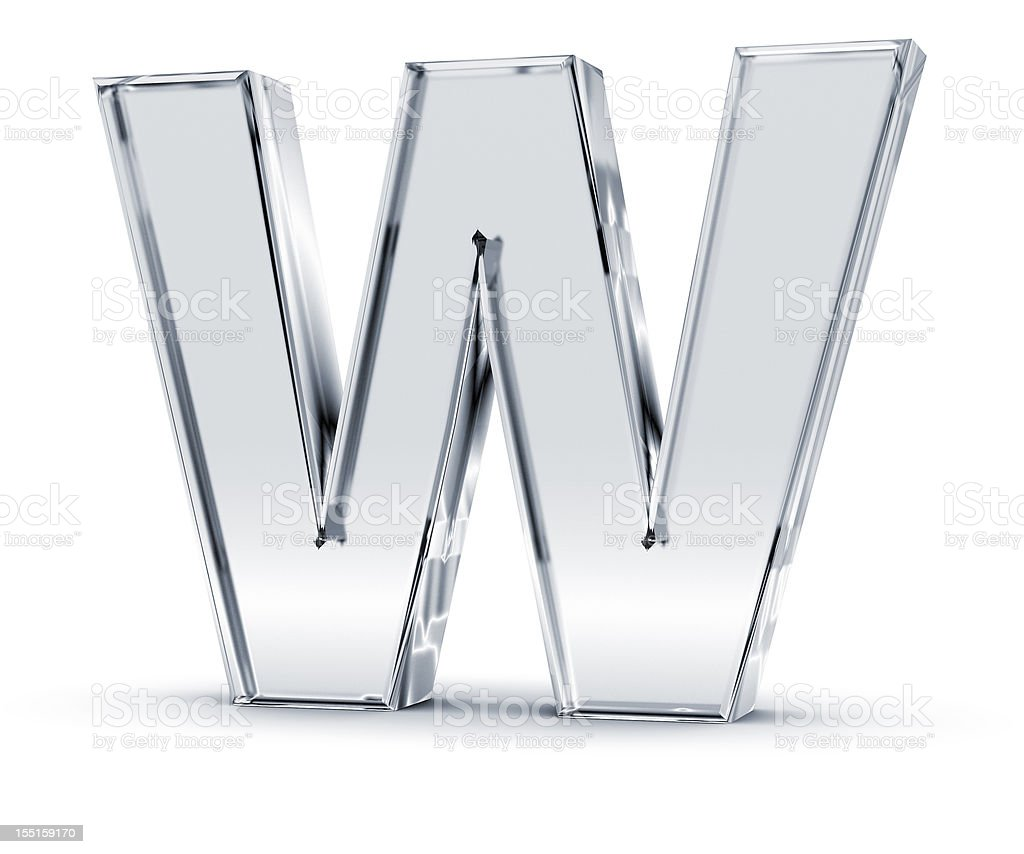 Alphabet W stock photo