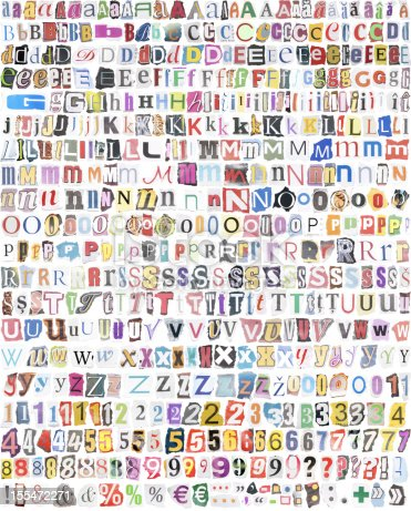 istock alphabet with 516 letters, numbers, symbols 155472271