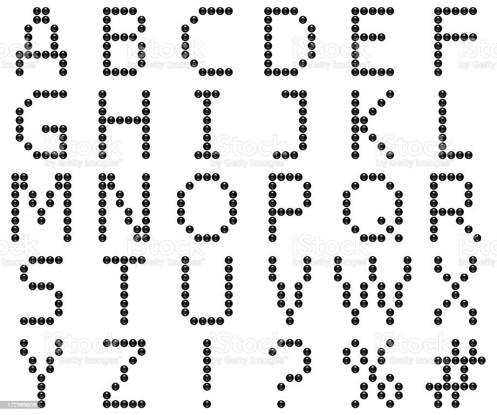 Alphabet with Balls royalty-free stock photo