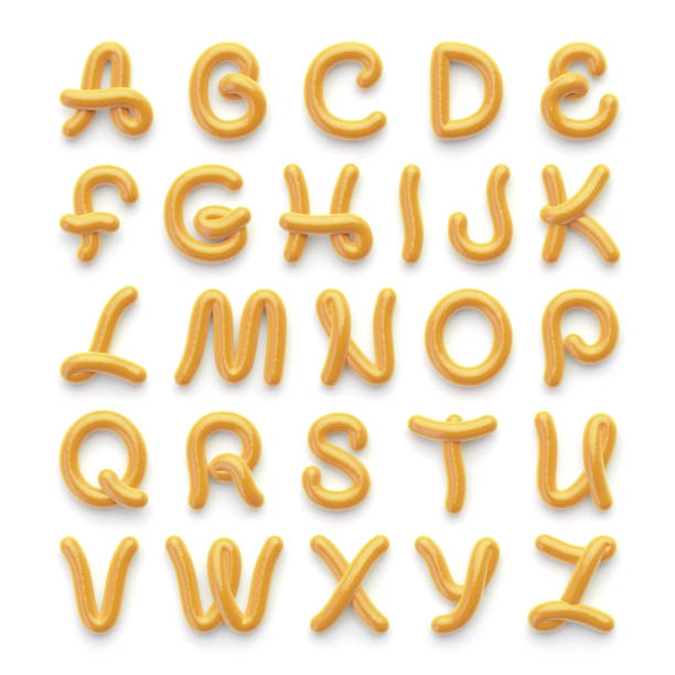 alphabet with letters on white - the alphabet stock photos and pictures