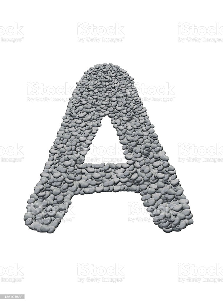 alphabet with stone texture royalty-free stock photo