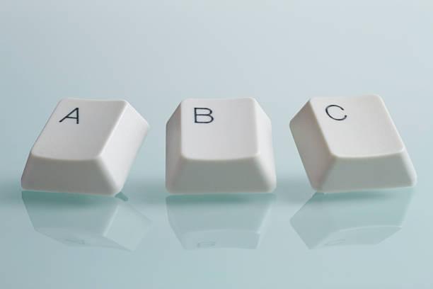 ABC Alphabet Wort mit Schlüssel – Foto