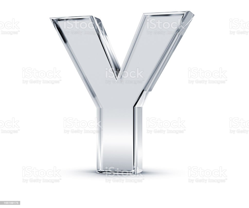 Alphabet Y stock photo