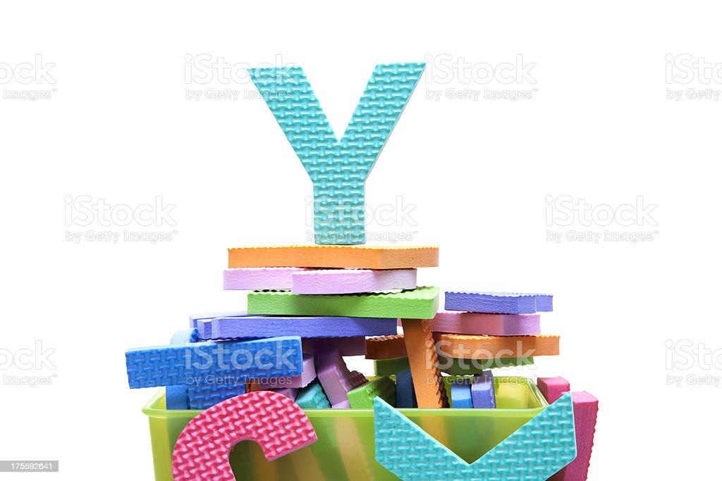 alphabet Y royalty-free stock photo