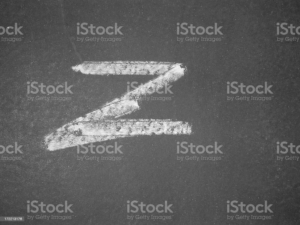 Alphabet - z - Chalk royalty-free stock photo