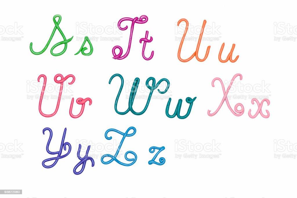 alphabet3 stock photo