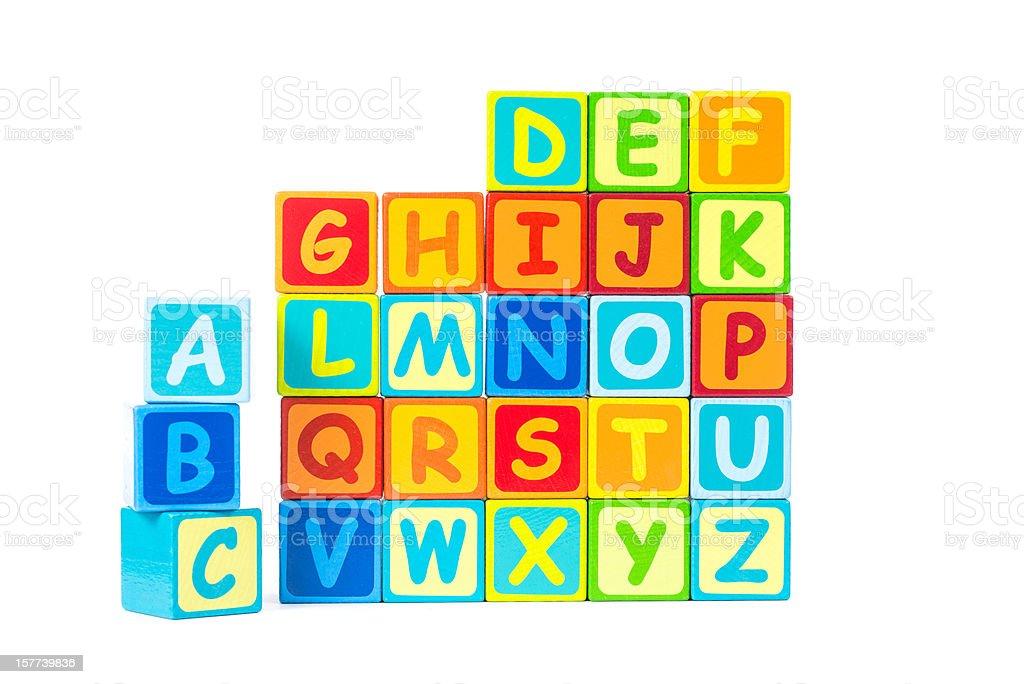 Alphabeth aus bunten Buchstaben royalty-free stock photo