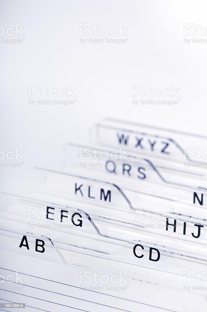Alphabetic organizer royalty-free stock photo