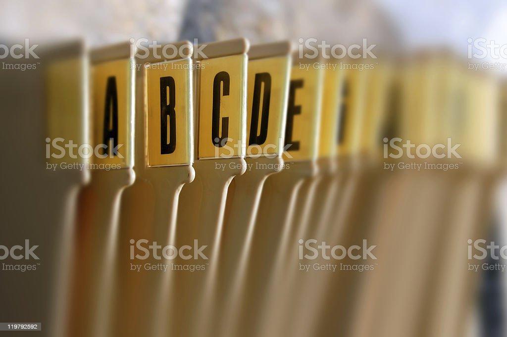 Corbeille de classement par ordre alphabétique - Photo