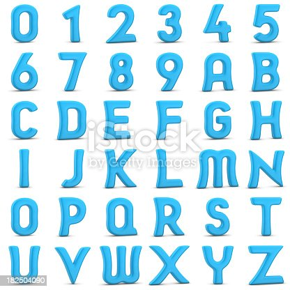 istock alphabets and numbers 182504090