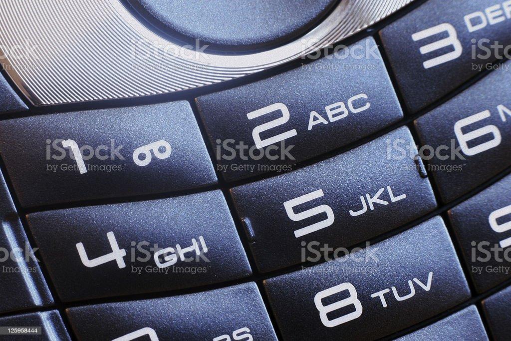 Alphanumeric Keypad - Cell Phone Closeup stock photo