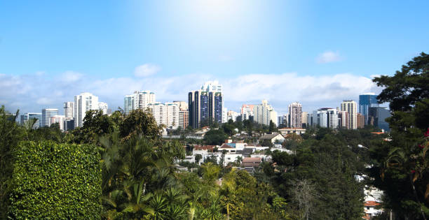 Alphaville Barueri city skyline on sunny day stock photo