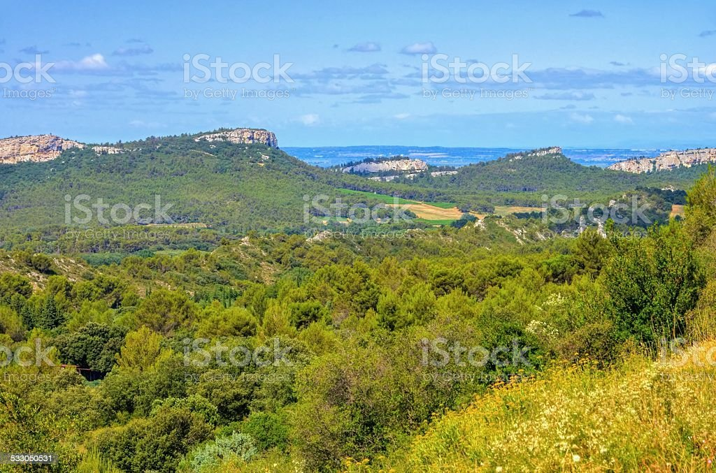 Alpilles stock photo
