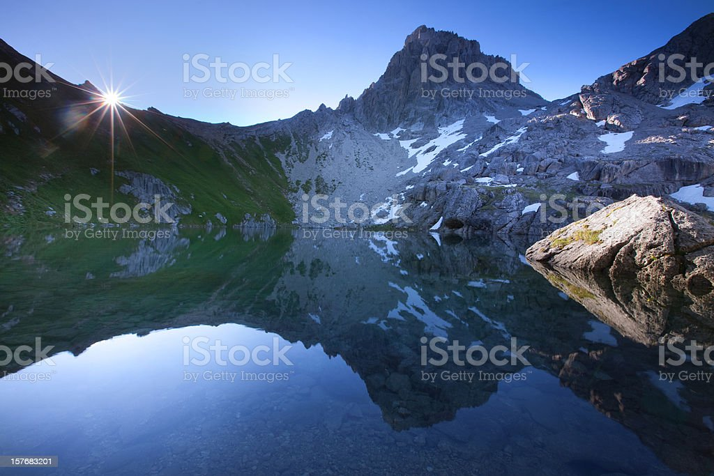 alpin lake gufelsee in tirol - austria royalty-free stock photo