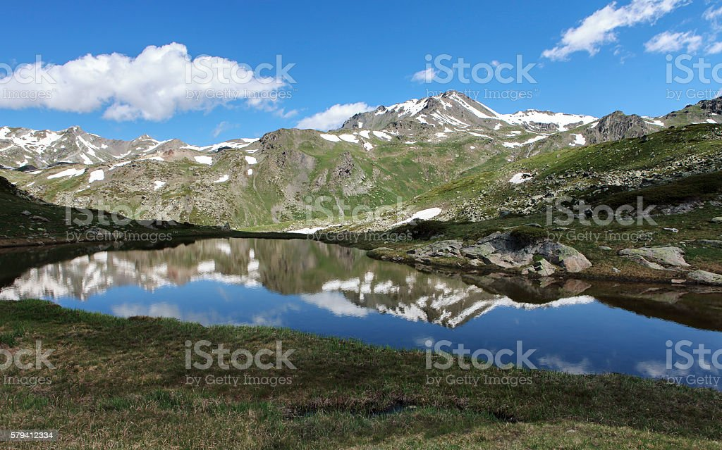 alpin lake stock photo