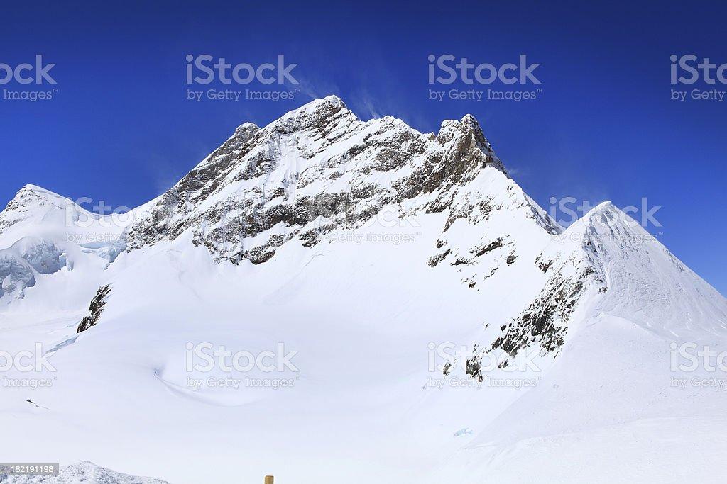 Alpine Alps mountain landscape at Jungfraujoch royalty-free stock photo