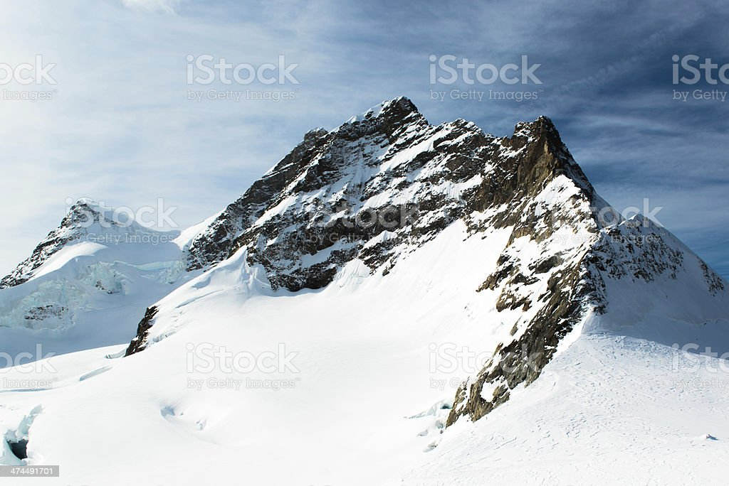 Alpine Alps mountain landscape at Jungfraujoch, Top of Europe Switzerland royalty-free stock photo