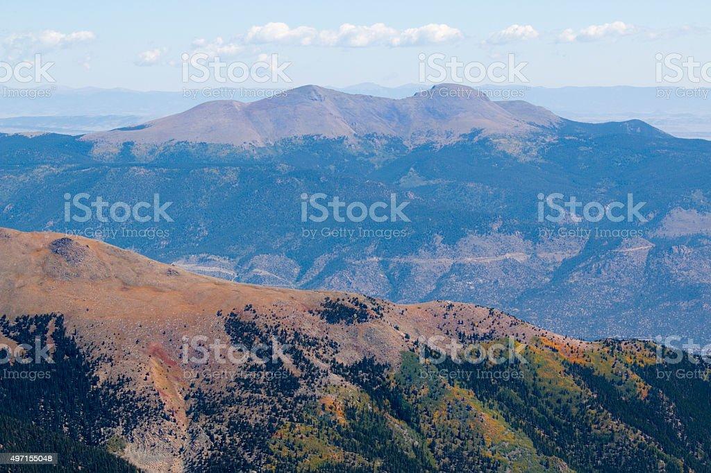 Alpine Autumn Scenery on Mount Yale Colorado stock photo
