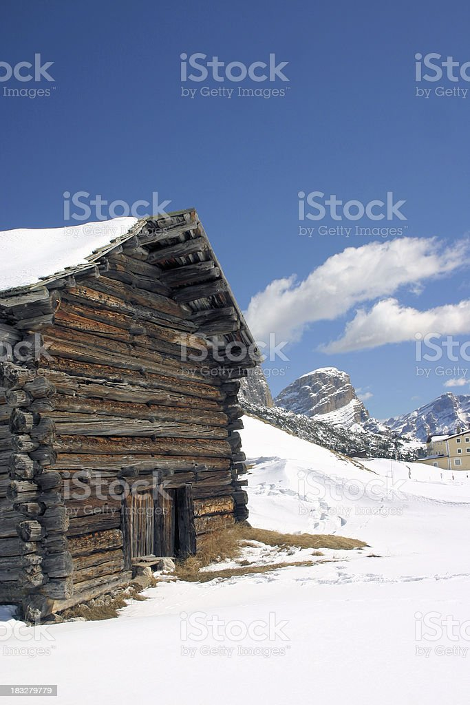 Alpine chalet in the Dolomites royalty-free stock photo