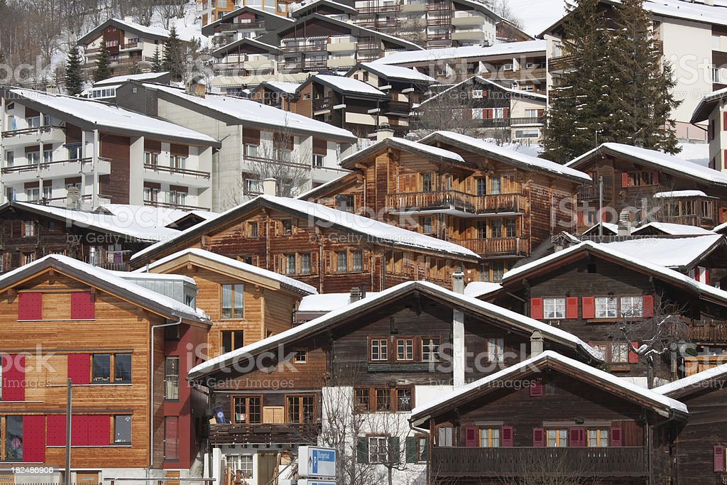 Alpine Cottage stock photo