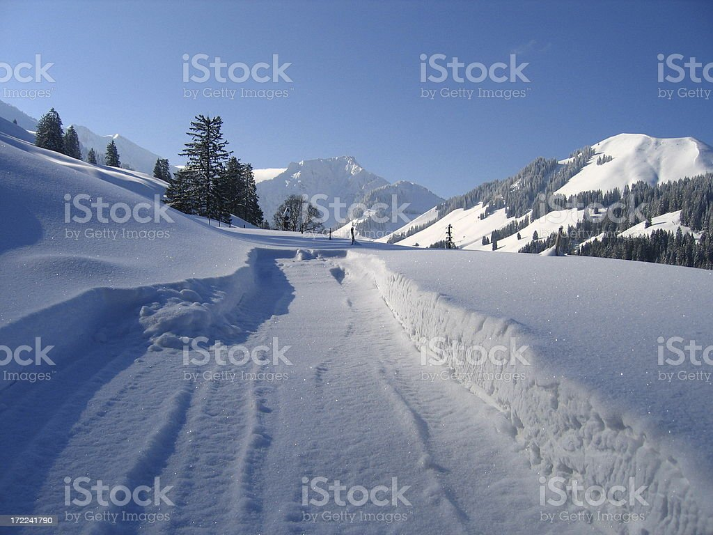 Alpine Dead End royalty-free stock photo