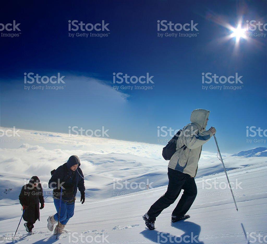 Alpine expedition climbing Mt. Sar Planina, Macedonia royalty-free stock photo