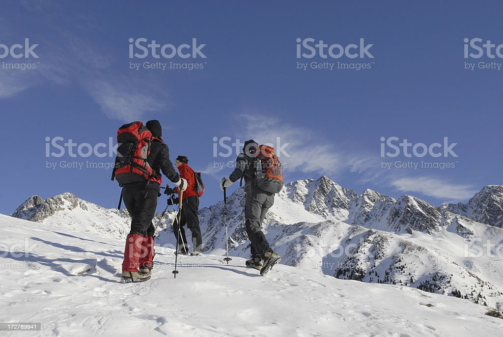 Alpine expedition climbing royalty-free stock photo
