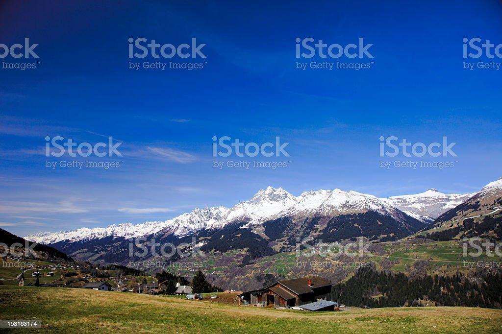 Alpine Farm stock photo