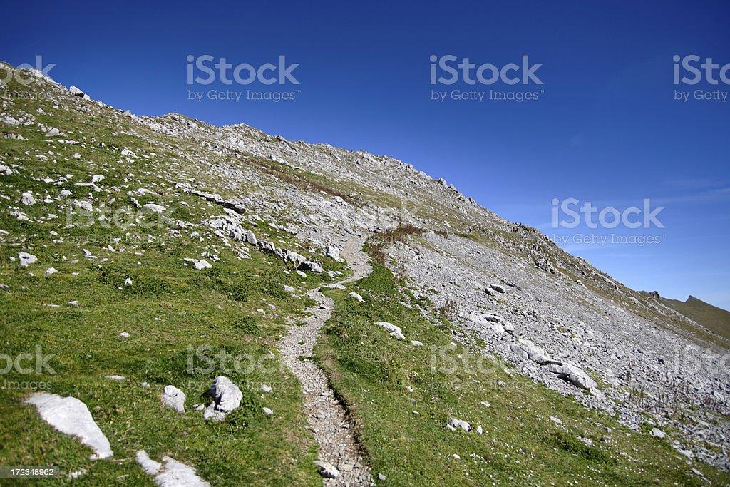 Alpine Footpath royalty-free stock photo