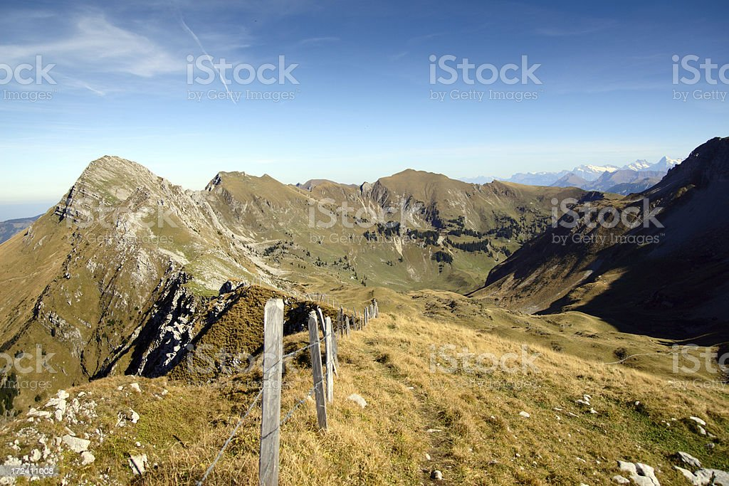Alpine Footpath royalty-free stock photo