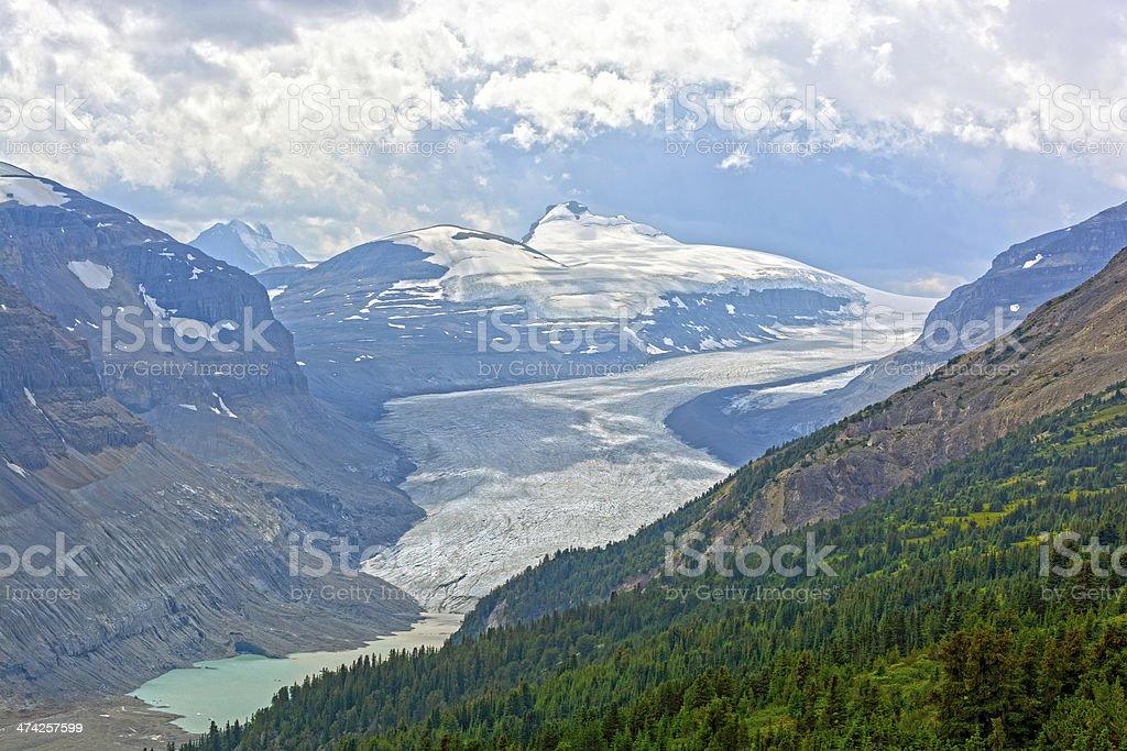 Alpine Glacier in Summer royalty-free stock photo