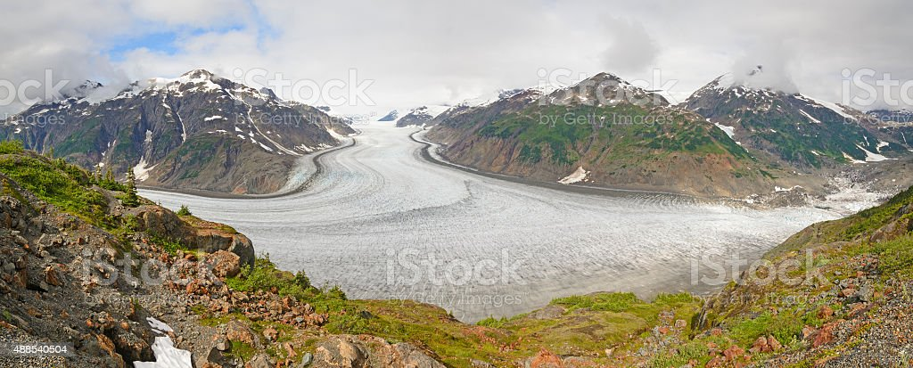 Alpine Glacier Panorama stock photo