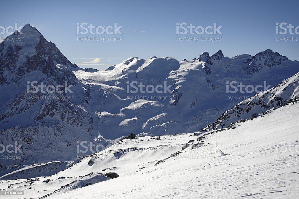 Alpine Glacier royalty-free stock photo