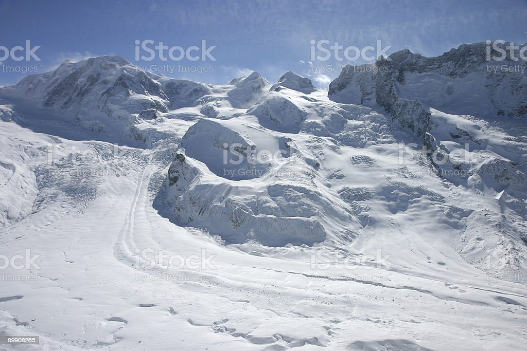 Alpine glacier royalty-free stock photo