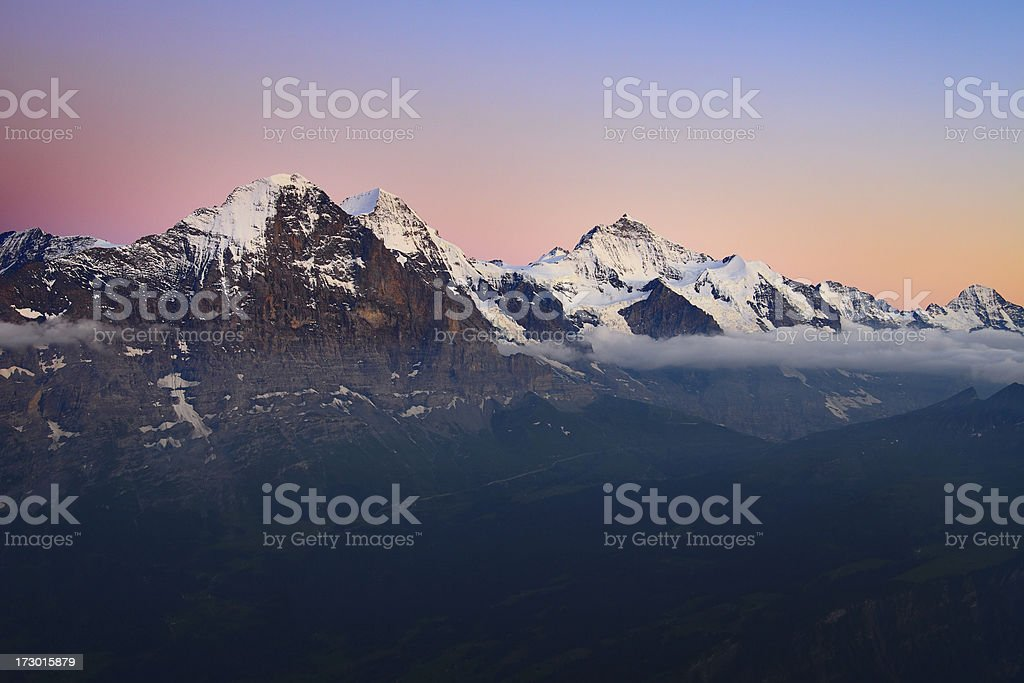 Alpengluehen royalty-free stock photo