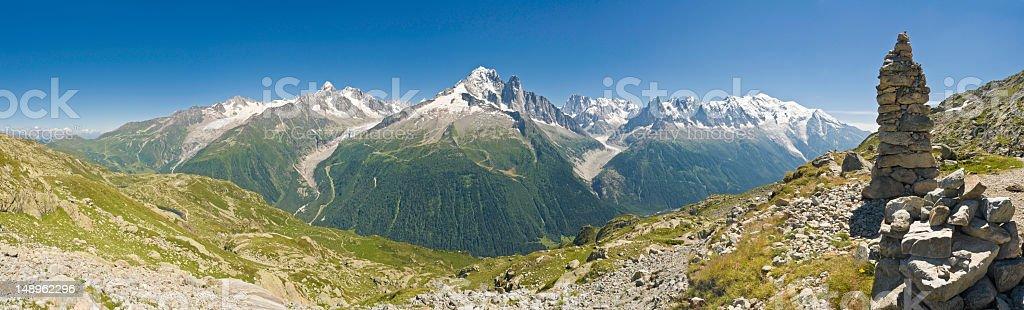 Alpine high viewpoint vista royalty-free stock photo