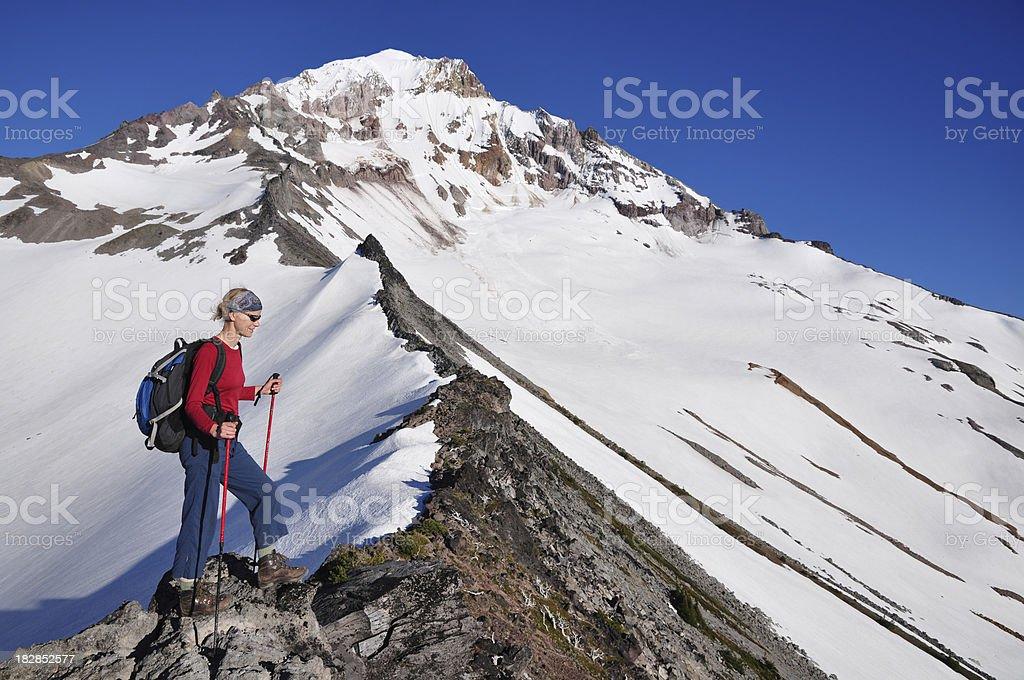 Alpine Hiking royalty-free stock photo