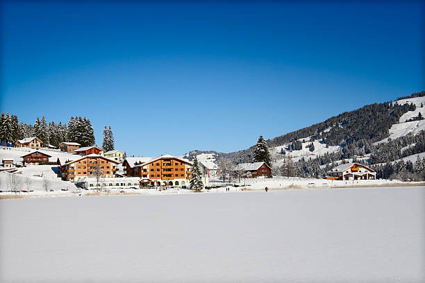 Alpine Hotel stock photo