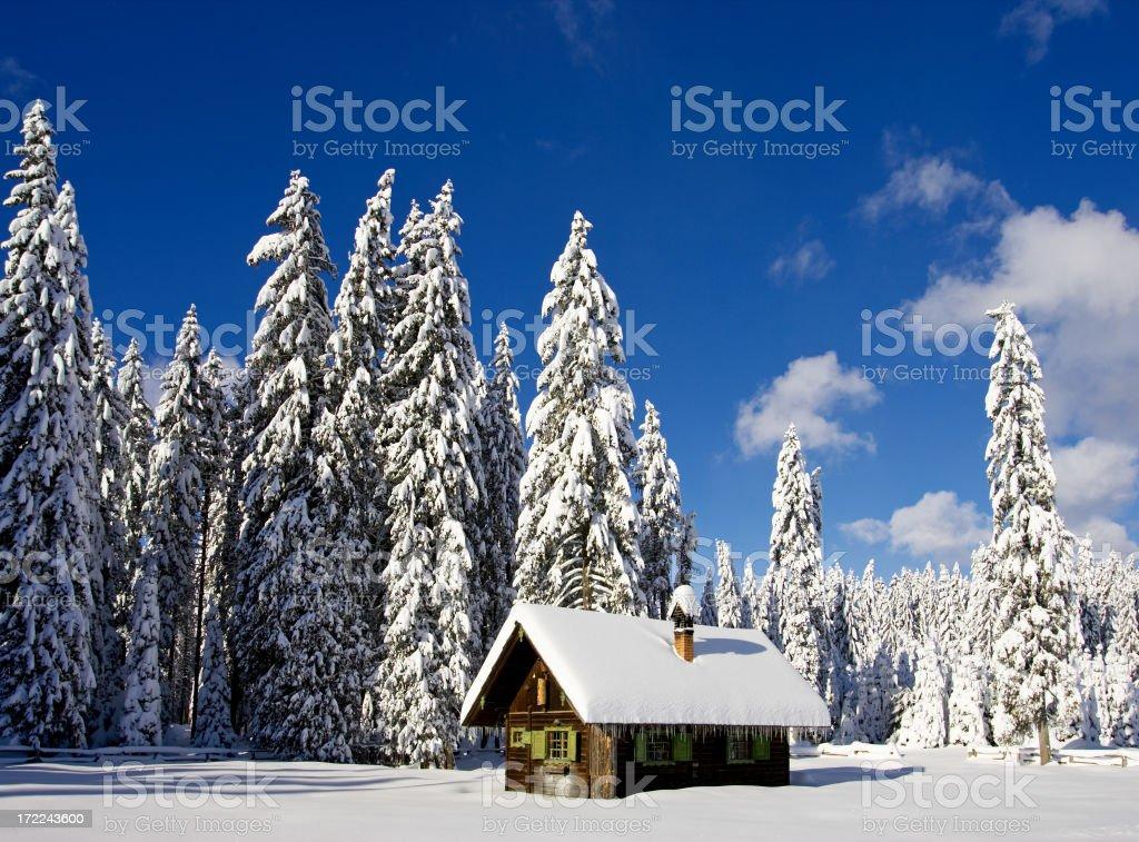 Alpine Hut royalty-free stock photo