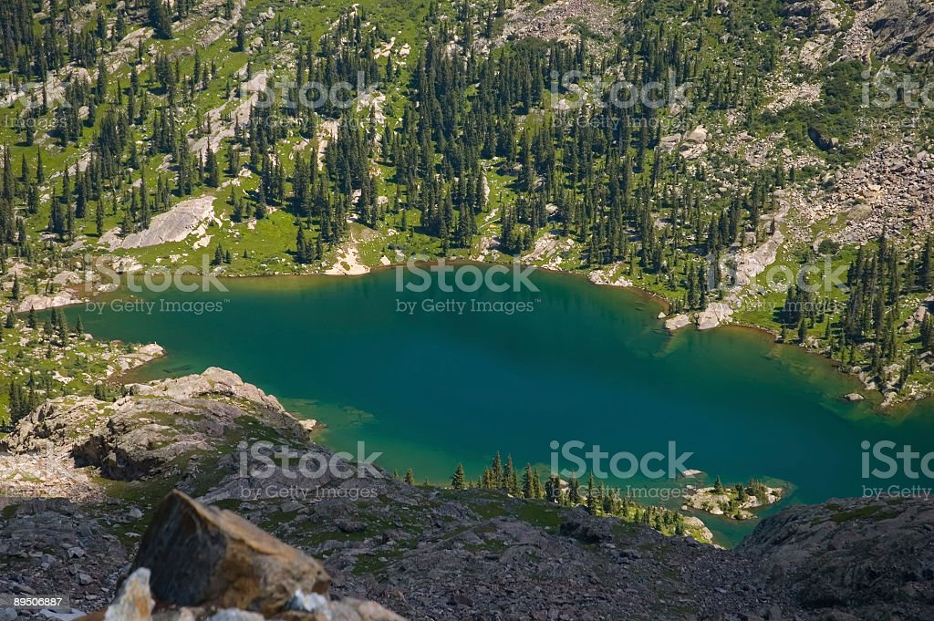 Alpine Lake Colorado Rockies royalty-free stock photo