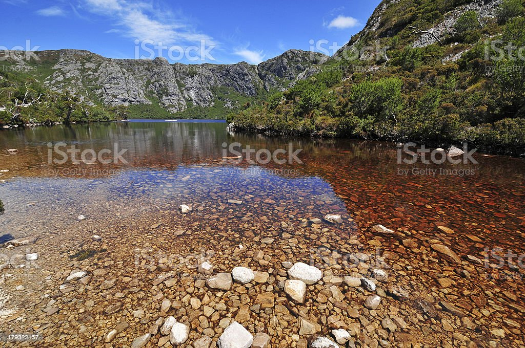 Alpine Lake, Cradle Mountain, Tasmania stock photo
