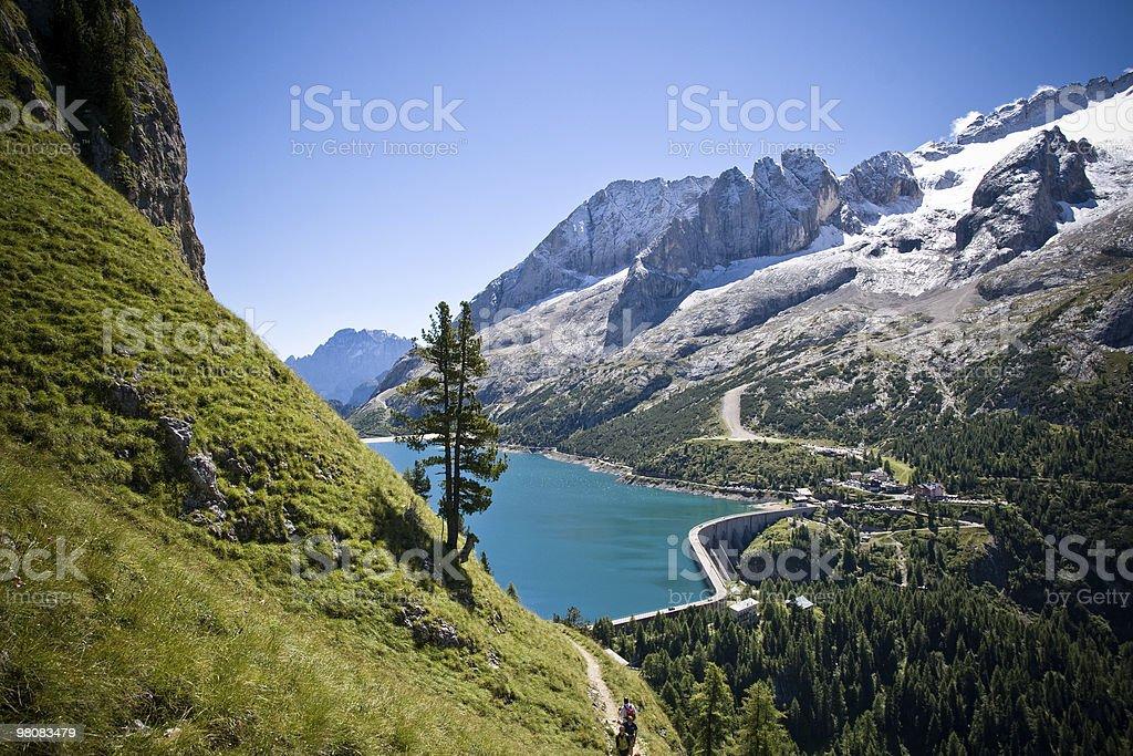Alpine Lake, Dolomites, Italian Alps royalty-free stock photo